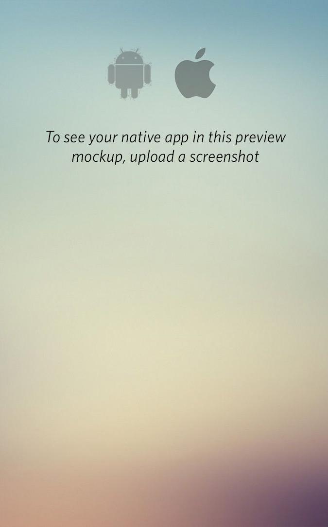 Pre uploaded native app screenshot